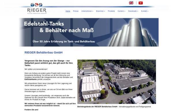 Vorschau von www.rieger-behaelterbau.de, Rieger Behälterbau GmbH
