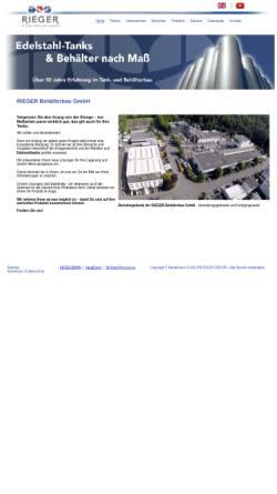 Vorschau der mobilen Webseite www.rieger-behaelterbau.de, Rieger Behälterbau GmbH