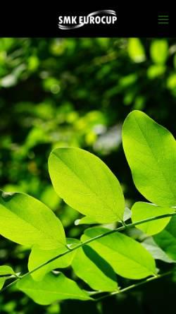 Vorschau der mobilen Webseite www.smk-eurocup.de, SMK Eurocup GmbH