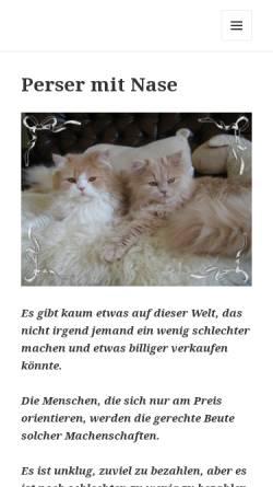 Vorschau der mobilen Webseite kuschelperser.de, Von Schellhammer