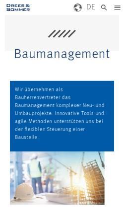 Vorschau der mobilen Webseite www.gagro.com, Gassmann + Grossmann Baumanagement GmbH