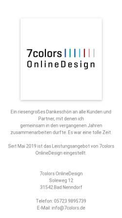Vorschau der mobilen Webseite www.7colors.de, 7 Colors, Christian Kappmeyer