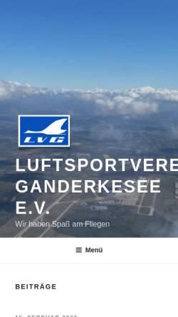 Vorschau der mobilen Webseite www.lvganderkesee.de, Luftsportverein Ganderkesee