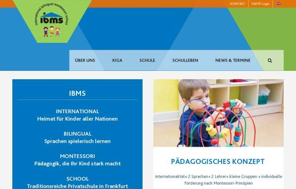 Vorschau von www.ibms-frankfurt.com, IBMS - International Bilingual Montessori School Frankfurt am Main