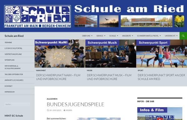 Vorschau von www.schule-am-ried.de, Schule am Ried