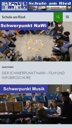 Vorschau der mobilen Webseite www.schule-am-ried.de, Schule am Ried