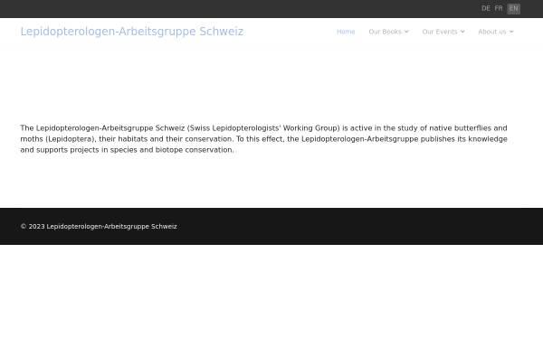 Vorschau von www.schmetterlinge.ch, Schmetterlinge der Schweiz [schmetterlinge.ch]