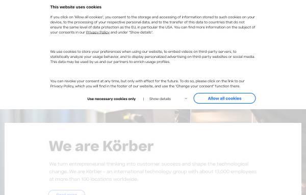Vorschau von www.koerber.de, Körber AG