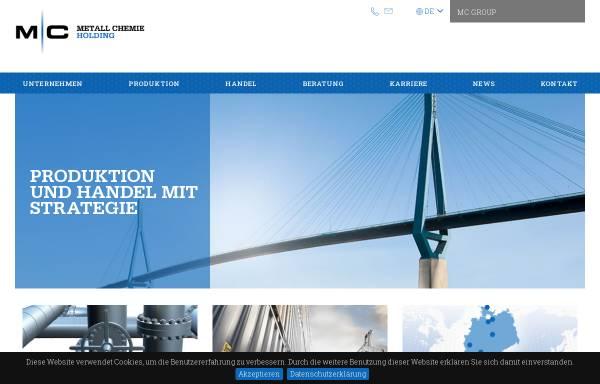 Vorschau von www.metall-chemie.com, Metall Chemie Holding GmbH