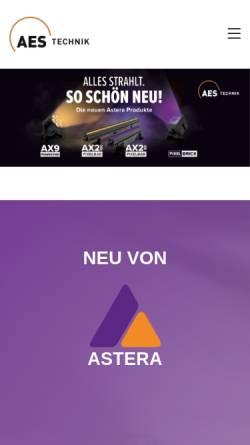 Vorschau der mobilen Webseite aes-veranstaltungstechnik.de, AES Veranstaltungstechnik OHG