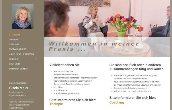 Vorschau von www.giselamaier.de, Dipl. - psych. Gisela Maier