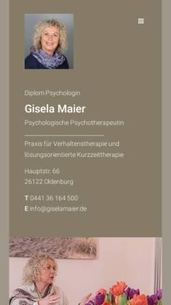Vorschau der mobilen Webseite www.giselamaier.de, Dipl. - psych. Gisela Maier