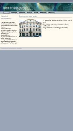 Vorschau der mobilen Webseite www.psychotherapie-berthold.de, Praxis für Psychotherapie Dipl.-Psych. Susanne Berthold