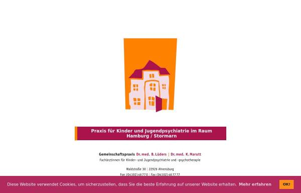 Vorschau von www.kjp-ahrensburg.de, KJP Ahrensburg | Gemeinschaftspraxis für Kinder- und Jugendpsychiatrie und -psychotherapie
