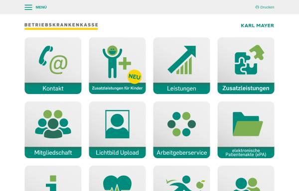 Vorschau von www.bkk-mayer.de, Betriebskrankenkasse der Karl Mayer GmbH (BKK MAYER)