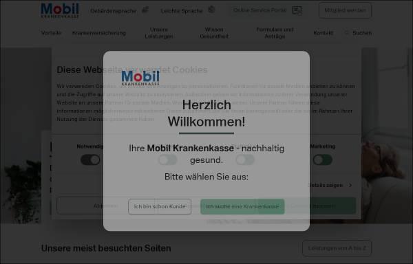 Vorschau von www.bkk-mobil-oil.de, Betriebskrankenkasse Mobil Oil (BKK Mobil Oil)