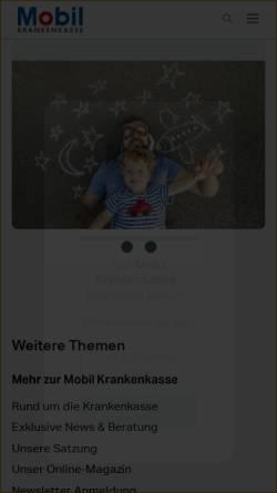 Vorschau der mobilen Webseite www.bkk-mobil-oil.de, Betriebskrankenkasse Mobil Oil (BKK Mobil Oil)
