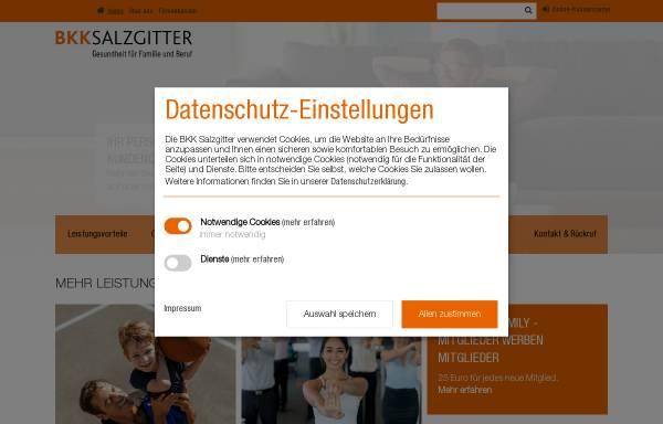 Vorschau von www.bkk-salzgitter.de, Betriebskrankenkasse Salzgitter (BKK Salzgitter)