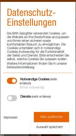 Vorschau der mobilen Webseite www.bkk-salzgitter.de, Betriebskrankenkasse Salzgitter (BKK Salzgitter)