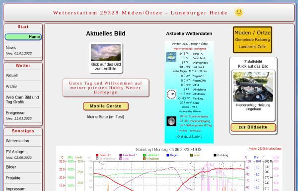 Vorschau von www.muedenwetter.de, Wetterstaion Müden/Örtze