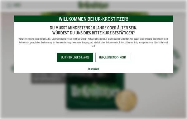Vorschau von www.ur-krostitzer.de, Krostitzer Brauerei GmbH
