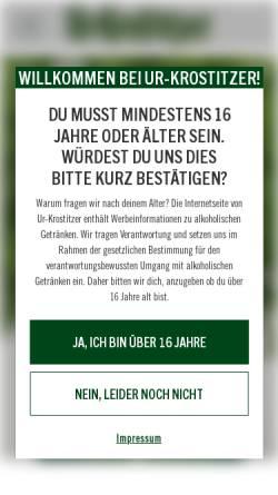 Vorschau der mobilen Webseite www.ur-krostitzer.de, Krostitzer Brauerei GmbH