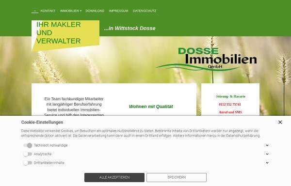 Vorschau von www.dosse-immobilien.de, Dosse Immobilien GmbH