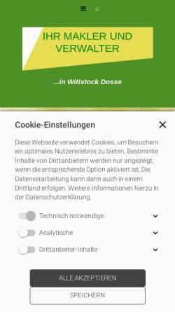 Vorschau der mobilen Webseite www.dosse-immobilien.de, Dosse Immobilien GmbH