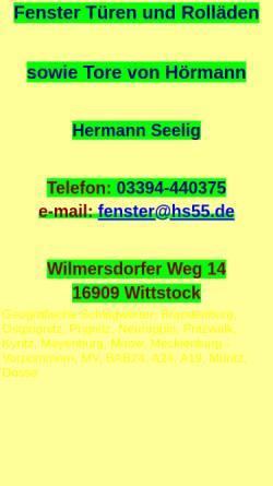 Vorschau der mobilen Webseite www.hs55.de, Hermann Seelig