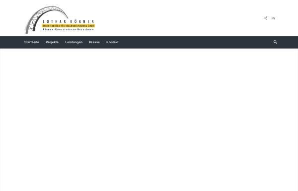 Vorschau von www.koerner-zs.de, Ingenieurbüro Lothar Körner