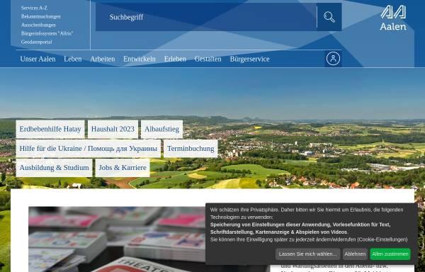 Vorschau von www.aalen.de, Stadt Aalen