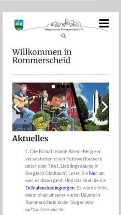 Vorschau der mobilen Webseite www.rommerscheid.de, Rommerscheid