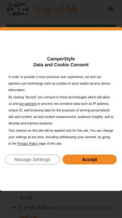 Vorschau der mobilen Webseite www.campingpark-ueberlingen.de, Campingpark Überlingen