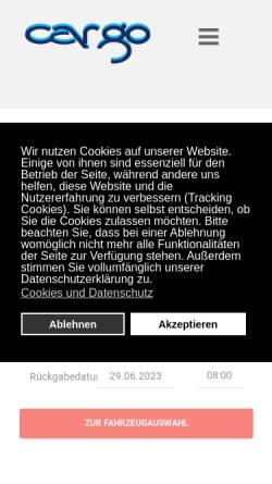 Vorschau der mobilen Webseite www.cargo-autovermietung.de, CarGo Autovermietung GmbH