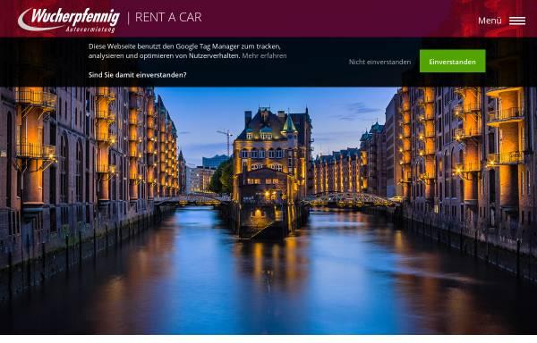 Vorschau von www.wucherpfennig.de, Wucherpfennig Avis Autovermietung