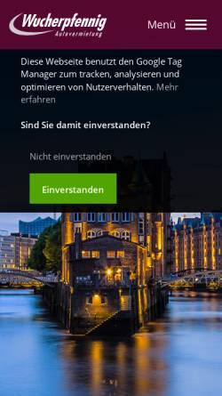 Vorschau der mobilen Webseite www.wucherpfennig.de, Wucherpfennig Avis Autovermietung