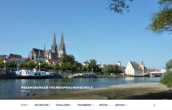 Vorschau von www.rfs-ev.de, Regensburger Fremdsprachenschule e. V.