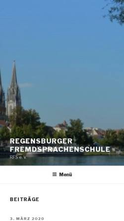 Vorschau der mobilen Webseite www.rfs-ev.de, Regensburger Fremdsprachenschule e. V.