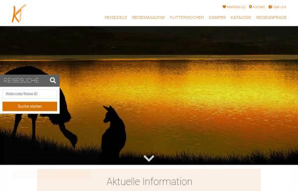 Vorschau von www.kangaroo-tours.de, Kangaroo-Tours Otmar Lind