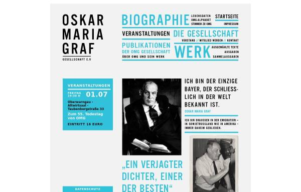 Vorschau von www.oskarmariagraf.de, Oskar-Maria-Graf-Gesellschaft e.V.
