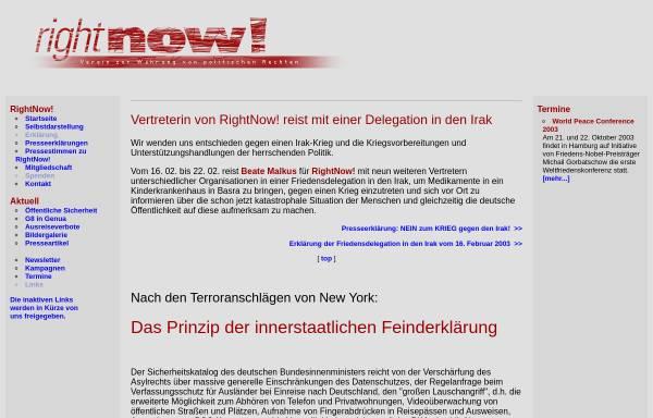Vorschau von www.sopos.org, RightNow - Verein zur Wahrung politischer Rechte