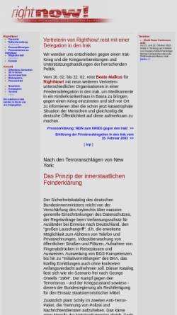 Vorschau der mobilen Webseite www.sopos.org, RightNow - Verein zur Wahrung politischer Rechte