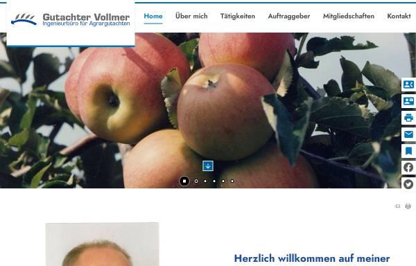 Vorschau von www.gutachter-vollmer.de, Vollmer, Sachverständiger und Gutachter