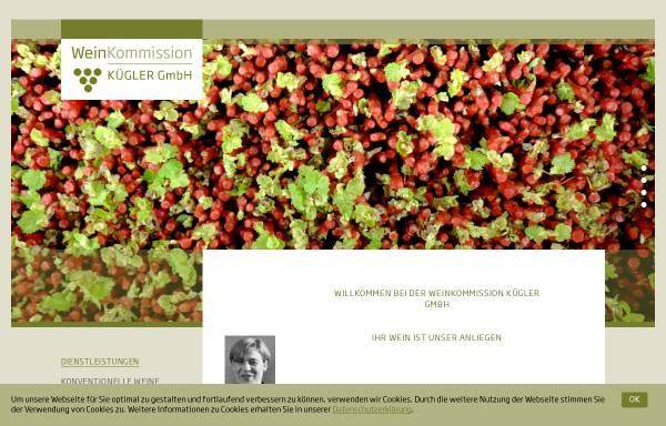 Vorschau von www.weinkommission.com, Weinkommission Kügler