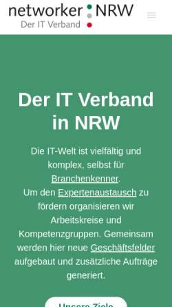 Vorschau der mobilen Webseite www.networker-nrw.de, networker NRW e.V.