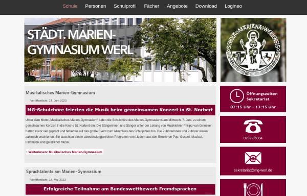 Vorschau von www.mg-werl.de, Mariengymnasium Werl