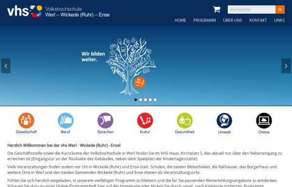 Vorschau von www.vhs-werl.de, Volkshochschule