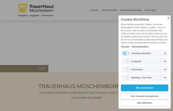 Vorschau von www.trauerhaus.de, TrauerHaus Müschenborn oHG
