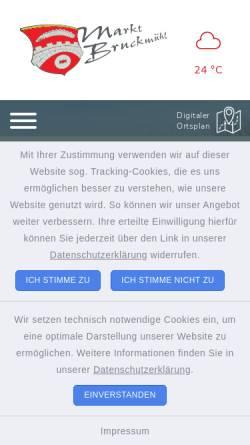 Vorschau der mobilen Webseite gemeinde-bruckmuehl.de, Bruckmühl