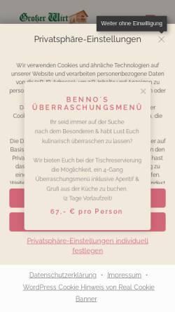Vorschau der mobilen Webseite www.gasthof-grosser-wirt.de, Gasthof Großer Wirt